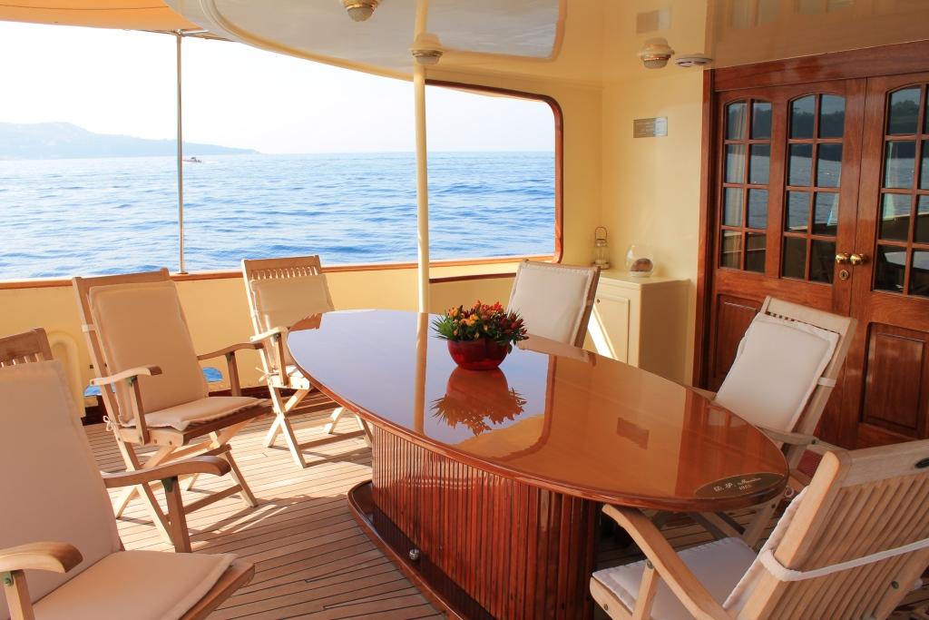 Yacht DP MONITOR - Al Fresco Dining
