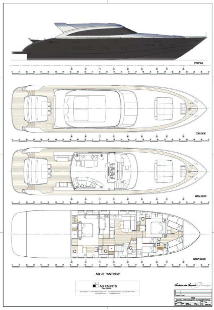 Yacht GEORGE P -  Layout
