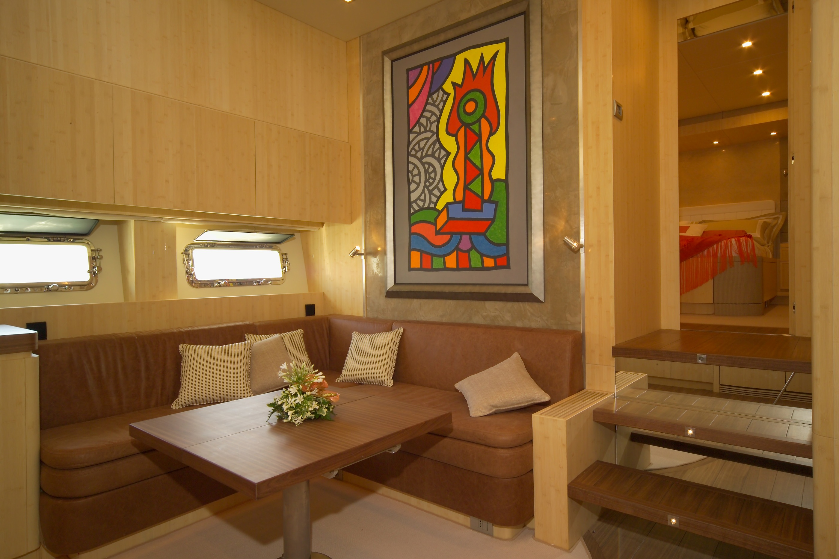 Yacht GEORGE P -  Lower Deck Seating