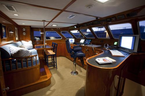 Yacht Georgiana - Wheelhouse