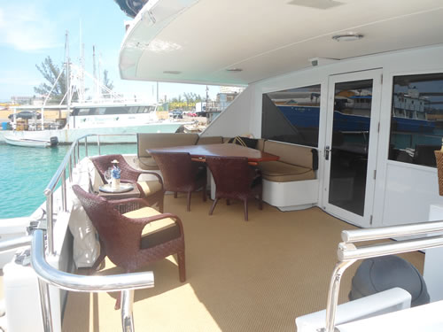 Yacht ISLAND TIME - Aft Deck