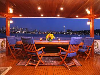 Yacht KAYANA -  Aft Deck Dining