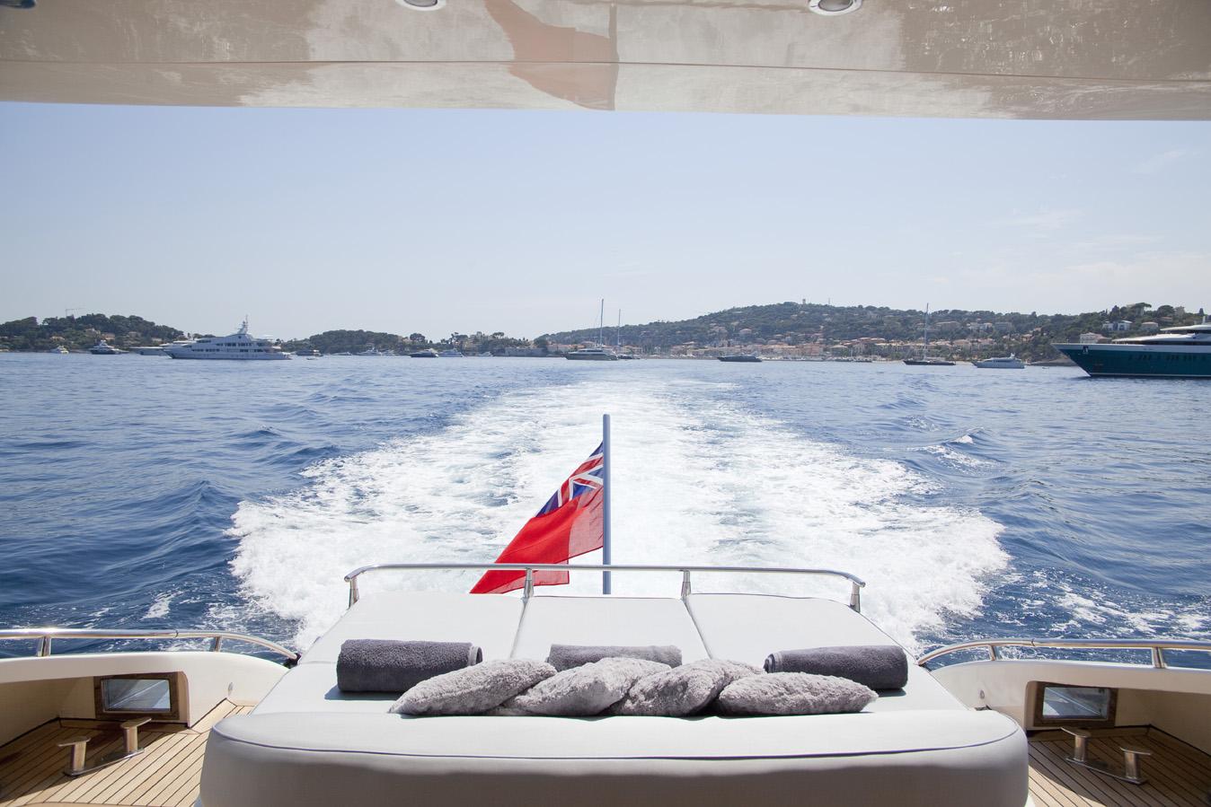 Yacht KOKAB -  Aft Deck Sunpads
