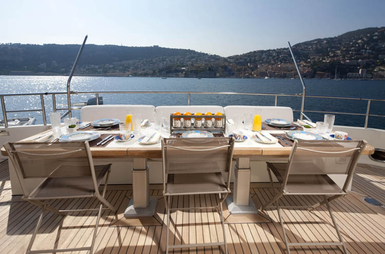 Yacht LA MASCARADE -  Aft Deck