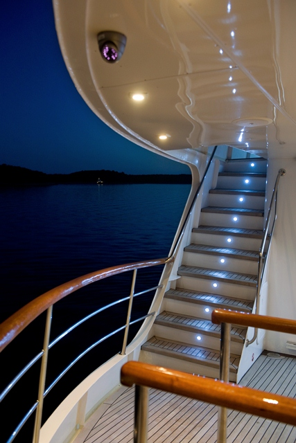 Yacht LA PERLA -  Exterior Stairs
