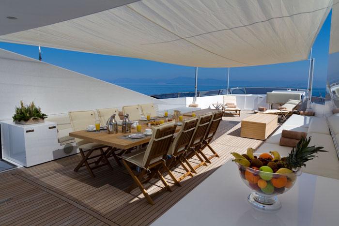 Yacht MABROUK -  Sundeck Dining