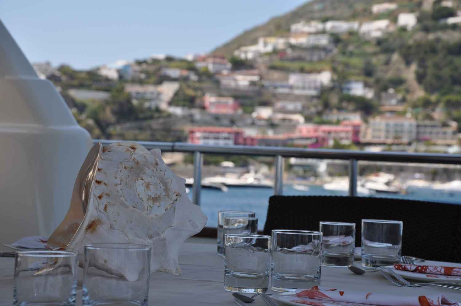 Yacht MALO -  Dining Detail
