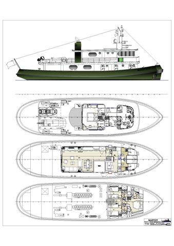 Yacht MASTIFF -  Layout