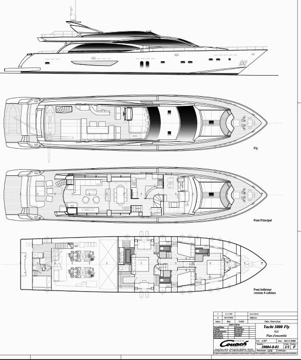 Yacht MAYAMA -  Layout