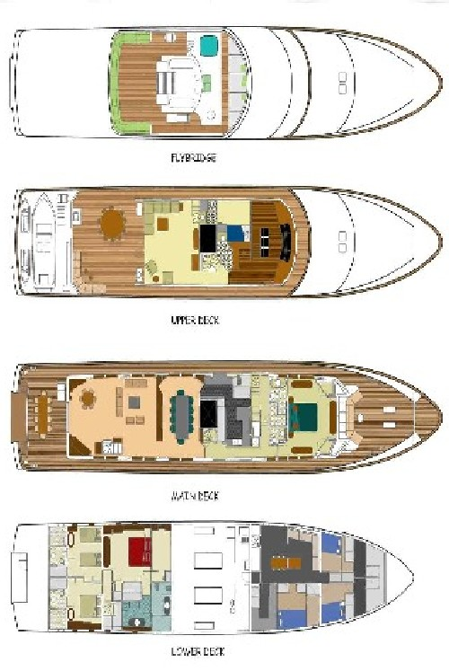 Yacht Monte Carlo Deck Plan And Layout