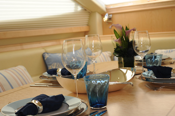 Yacht MORE MAGIC -  Dining Detail