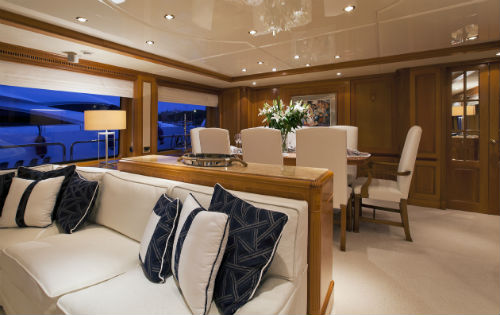 Yacht NEW STAR -  Main Salon and Dining