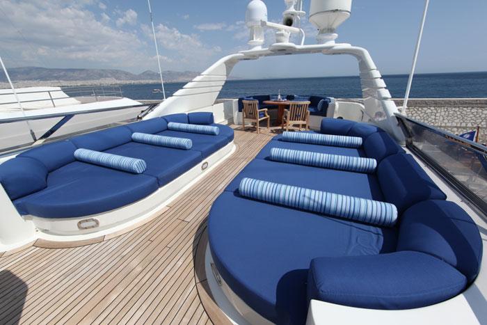 Yacht OPARI -  Sundeck Sunpads
