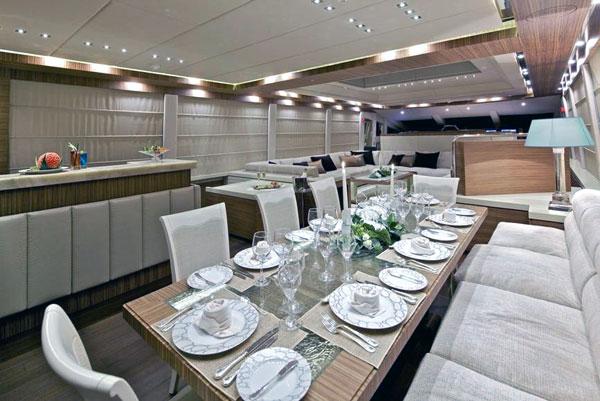 Yacht OPATI -  Formal Dining