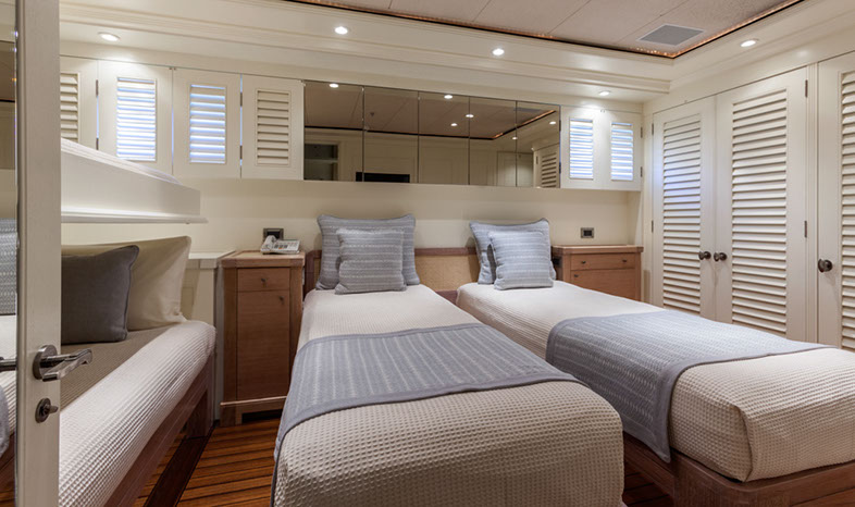 Yacht PERLE BLEUE  - Guest Cabin 1 Converted to Twin