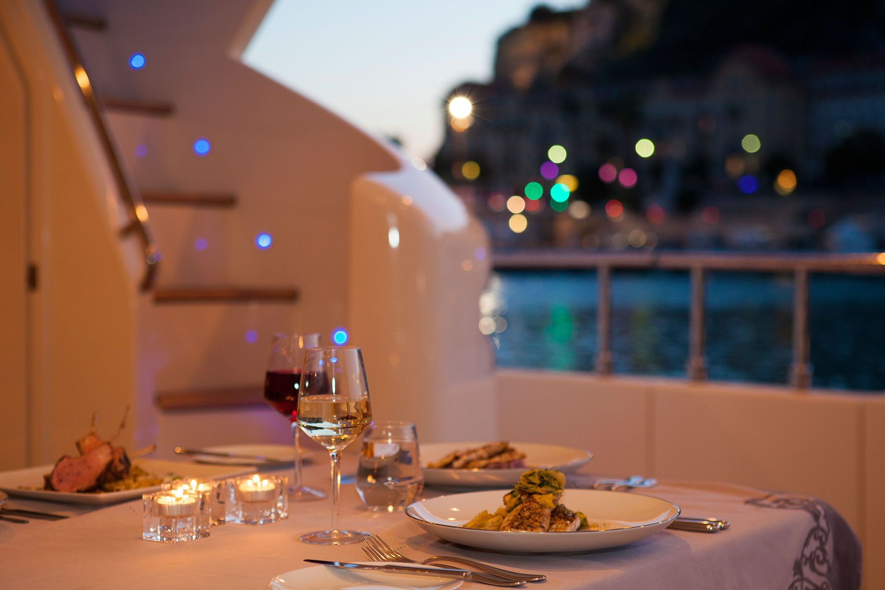 Yacht PERPETUAL -  Aft Deck Dining
