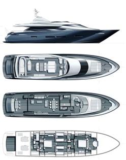 Yacht QUANTUM -  Layout