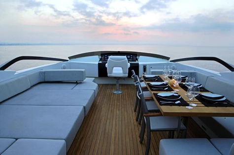 Yacht QUANTUM -  Sundeck Seating and Dining