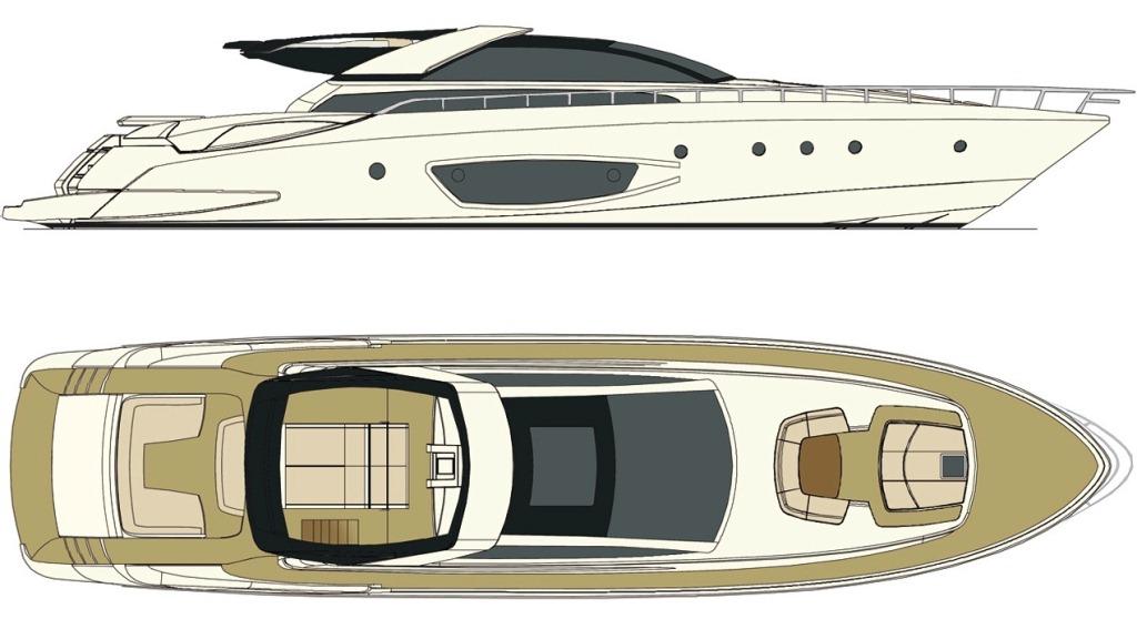 Yacht Rhino -  Deck Plan