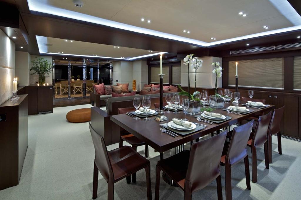 Yacht SANJANA -  Dining and Salon