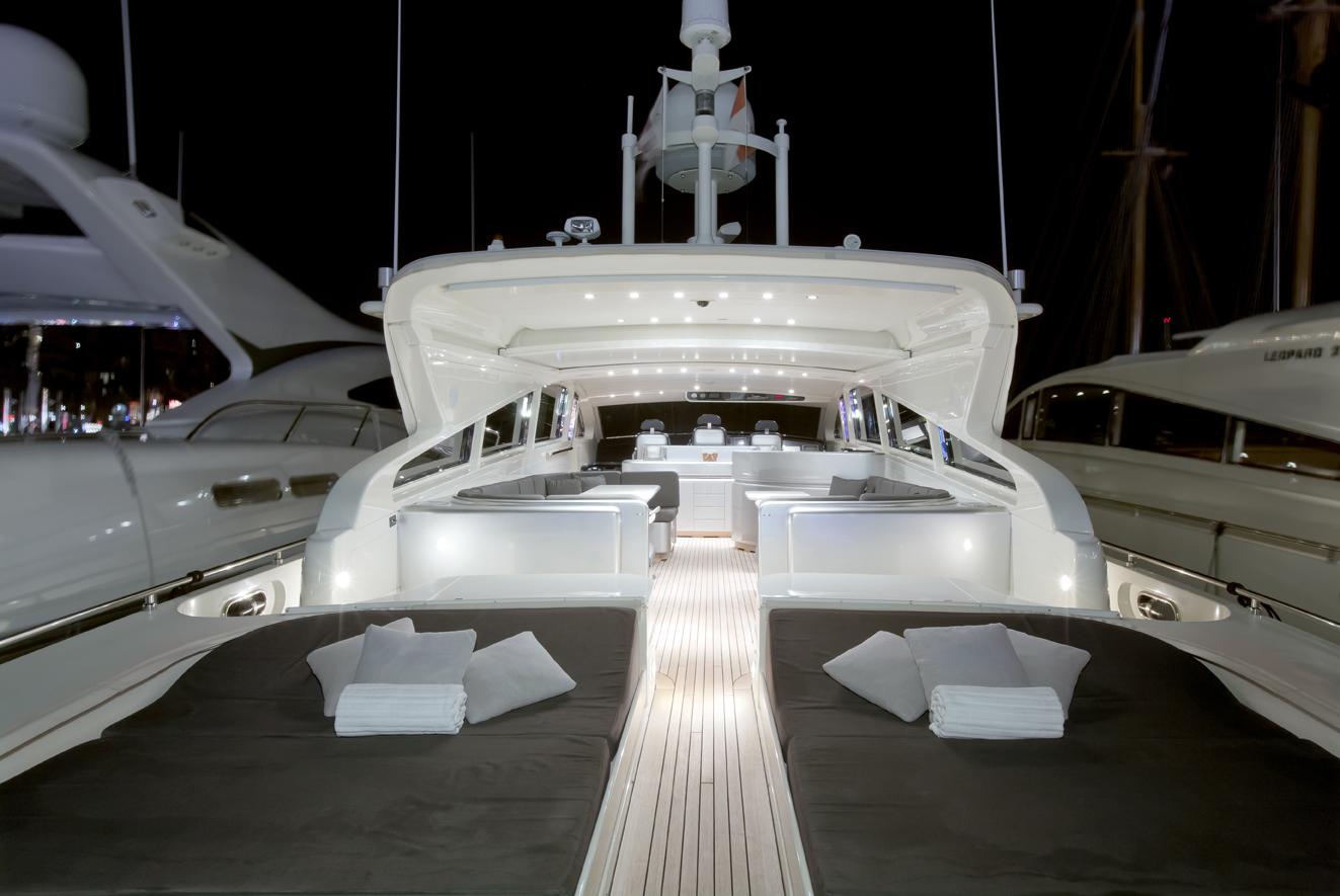 Yacht SARAH A -  Aft Deck at Night