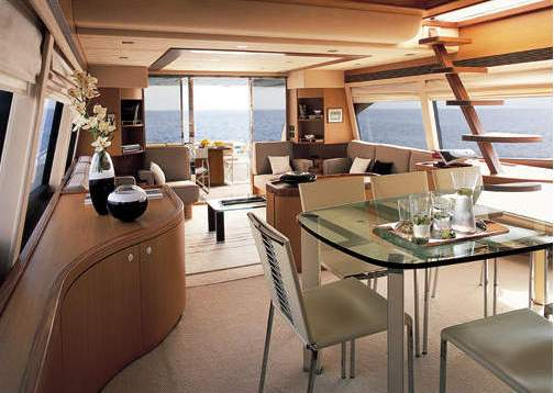 Yacht SEDROP -  Salon looking Aft