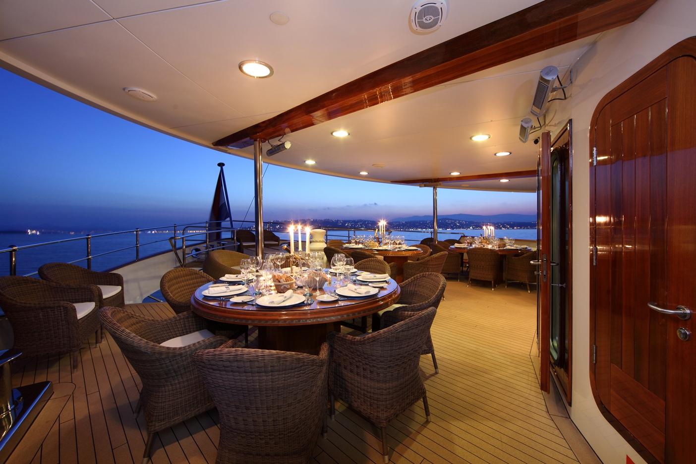 Yacht SHERAKHAN - Exterior Dining