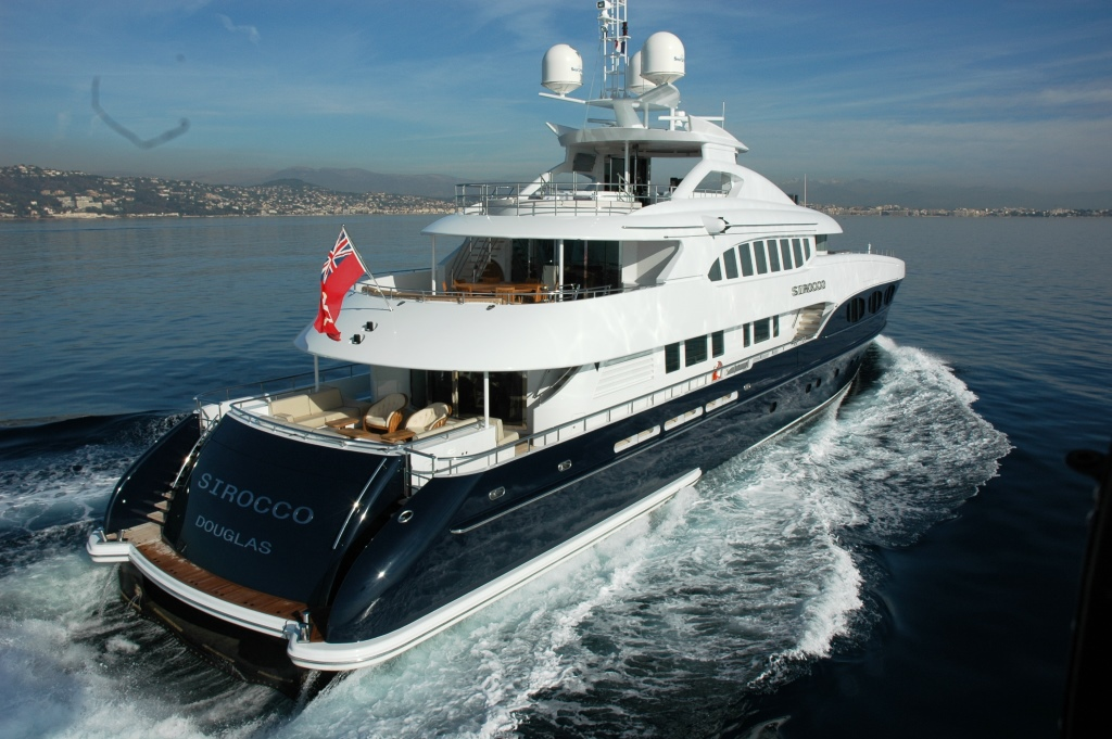 Yacht SIROCCO -  Aft View