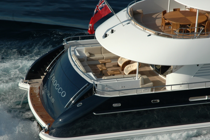Yacht SIROCCO -  Decks From Above