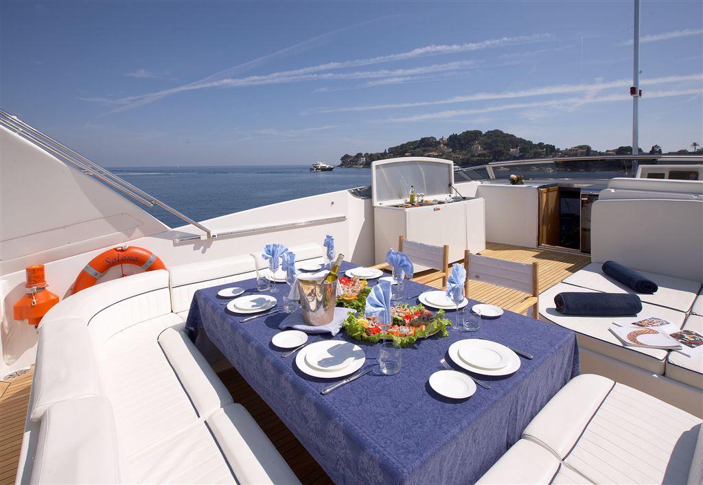 Yacht SOLONA -  Sundeck Dining