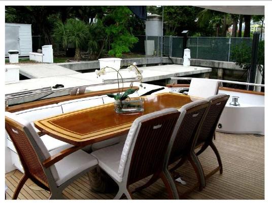 Yacht TEMPTATION DELTA -  Aft Deck Al Fresco Dining
