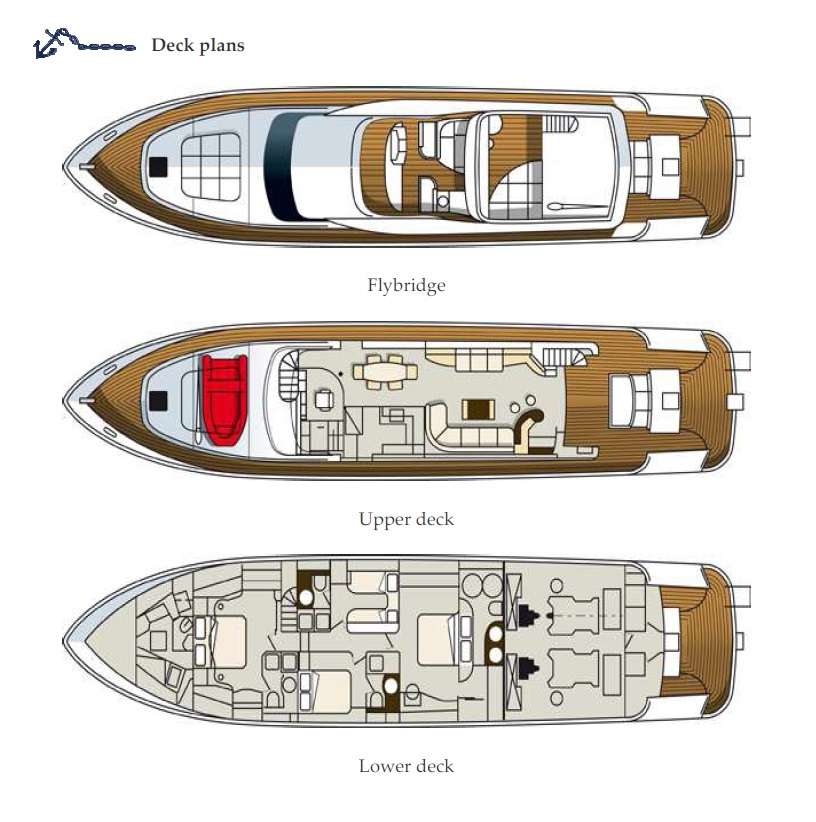 Yacht TEMPTATION DELTA -  Layout