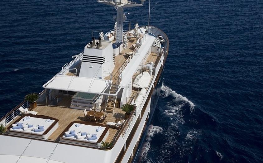 Yacht TITAN -  Aft View