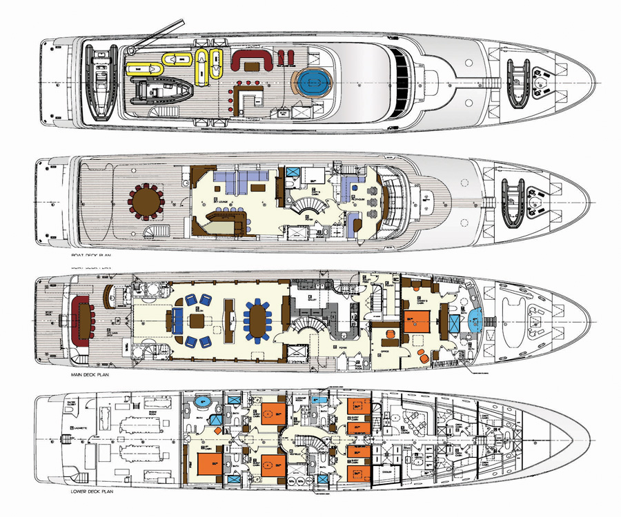 Yacht TOP FIVE -  Layout