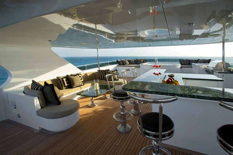 Yacht TOP FIVE -  Sundeck View Forward