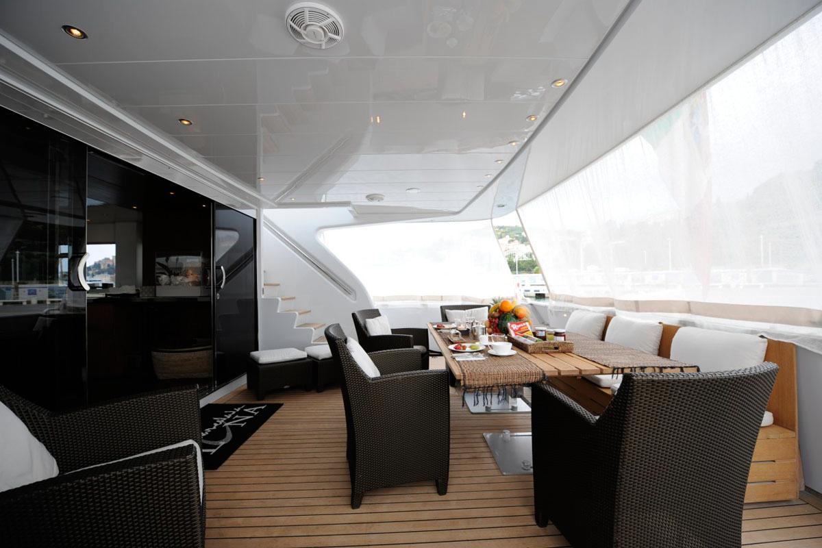 Yacht TROPICANA -  Aft Deck