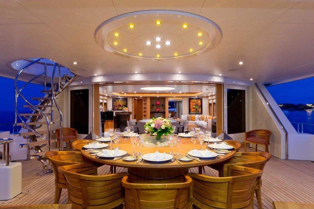 Yacht Troyanda -  Upper Aft Deck Dining 2