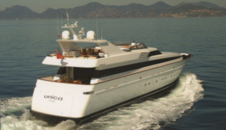 Yacht UNICA - Aft View