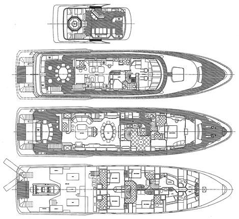 Yacht VICTORIA DEL MAR - Layout