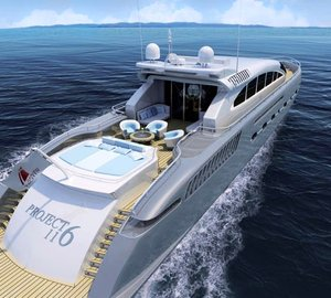 Superyacht Project 116 built by Danish yachts in its final stages of construction.