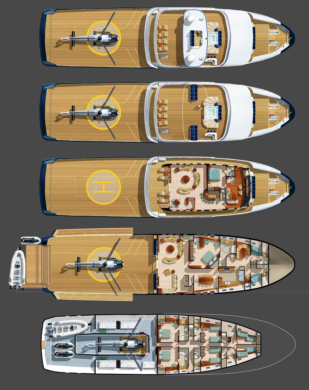 Do It Yourself Home Design: The Bray Ocean Explorer Yacht Deck Plans