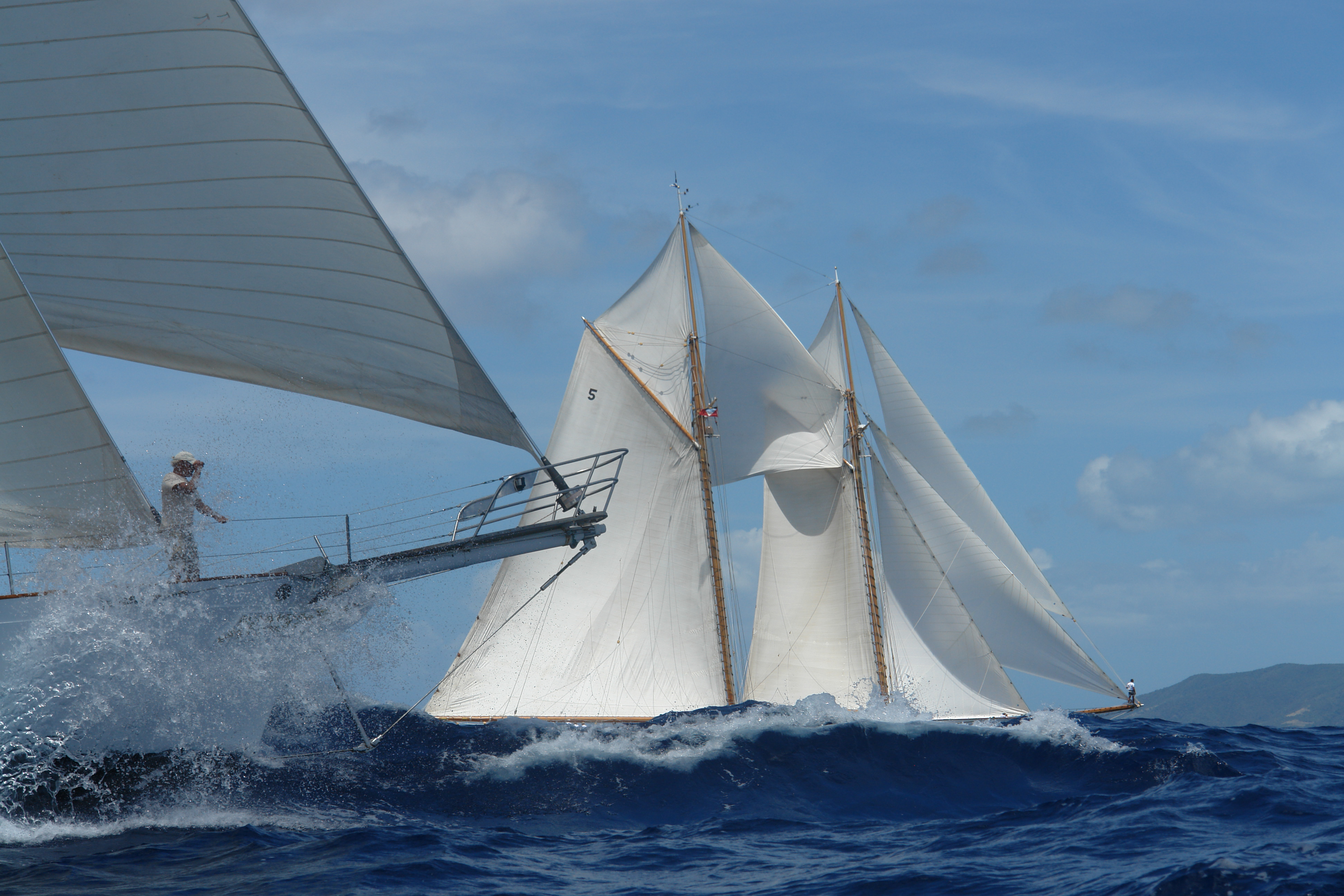 Sailing Yachts Racing At The Antigua Classic Yacht Regatta Yacht Charter Amp Superyacht News