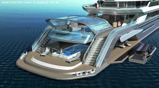 Avadesign New Diamond 70m Concept Transparent Lcd Hatch