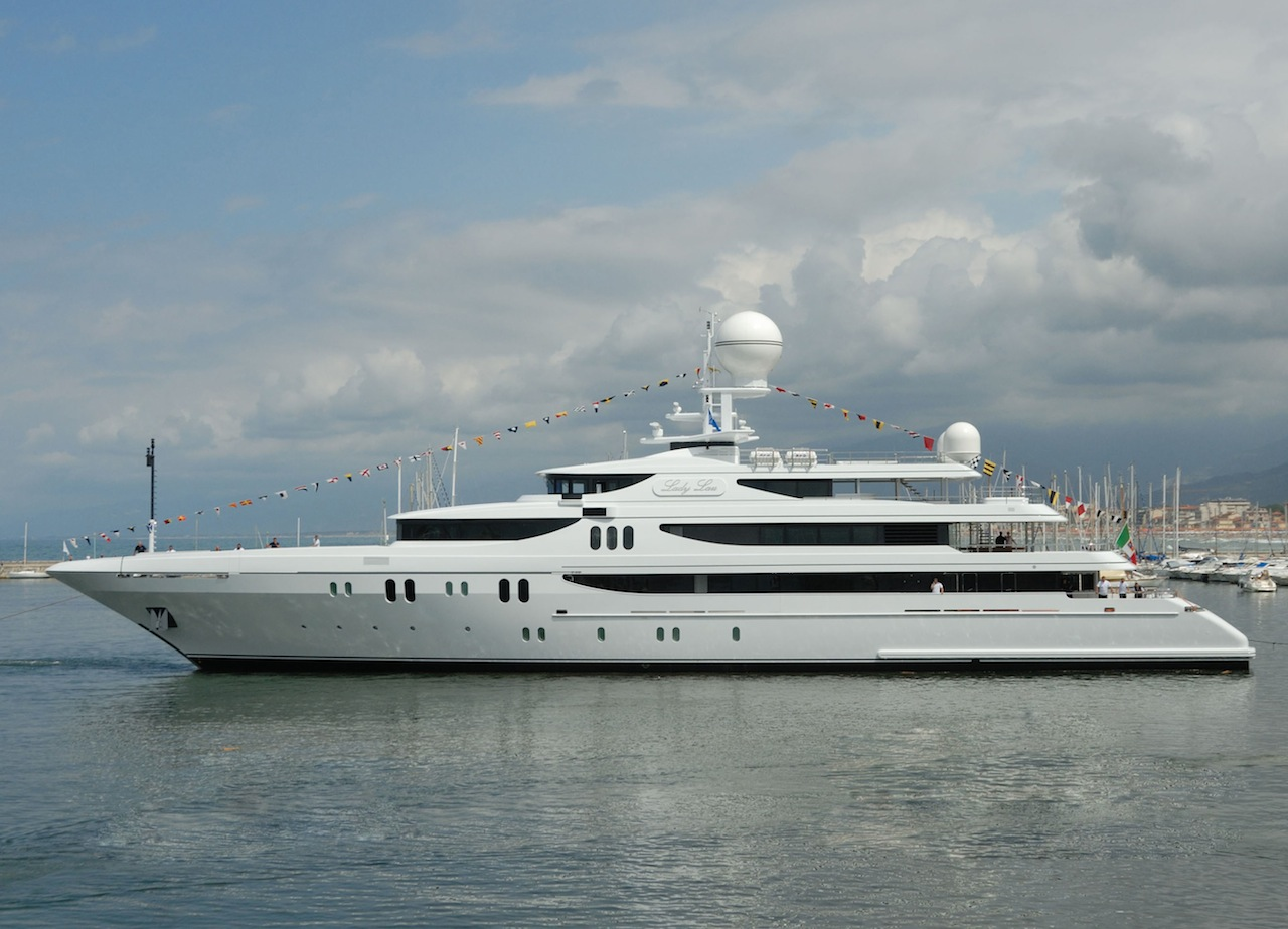 Codecasa Motor Yacht LADY LAU at her launch. Photo courtesy of Codecasa