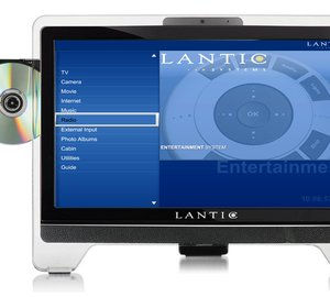 Lantic Entertainment Systems all-in-one TFY HDMI Screens at Monaco Yacht Show 2010