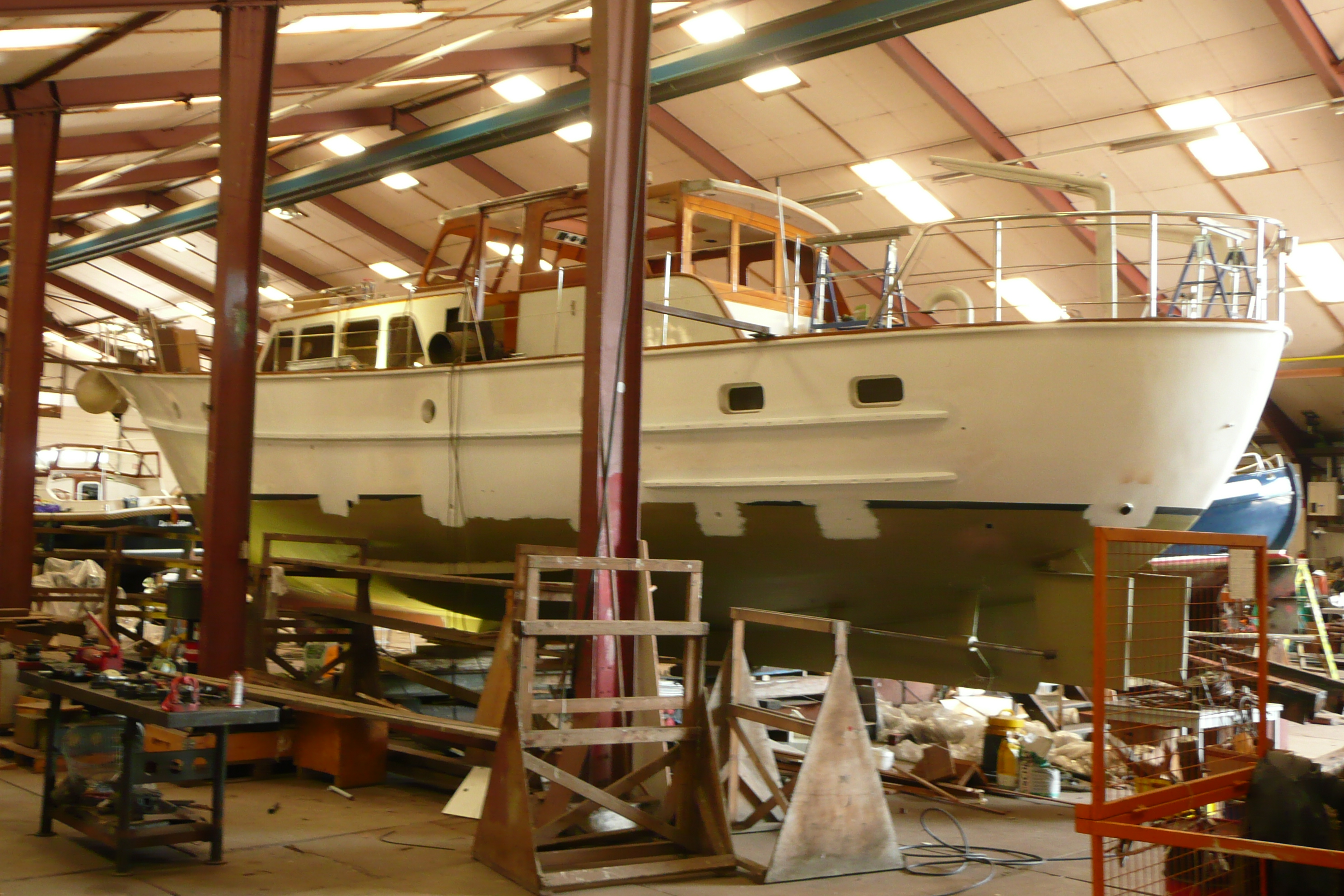 1962 Feadship Yacht Sirene during her refit at Van Dam Nordia