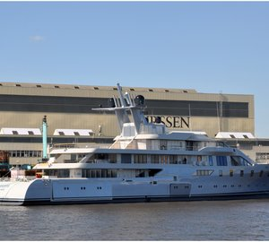 Superyacht PACIFIC is launched by Lurssen in Germany