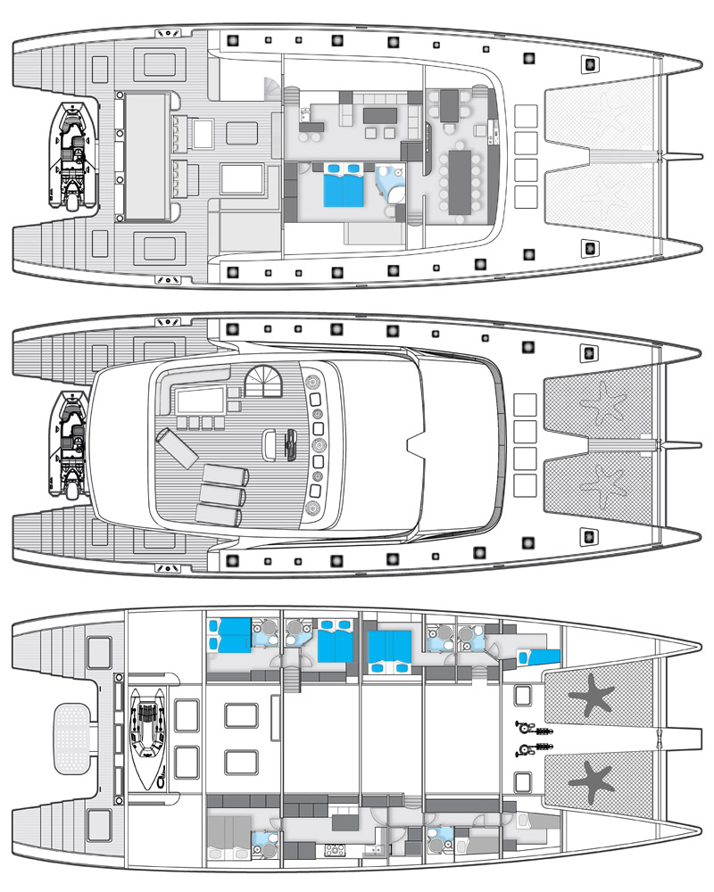 Sunreef 102 catamaran IPHARRA Layout — Yacht Charter & Superyacht News
