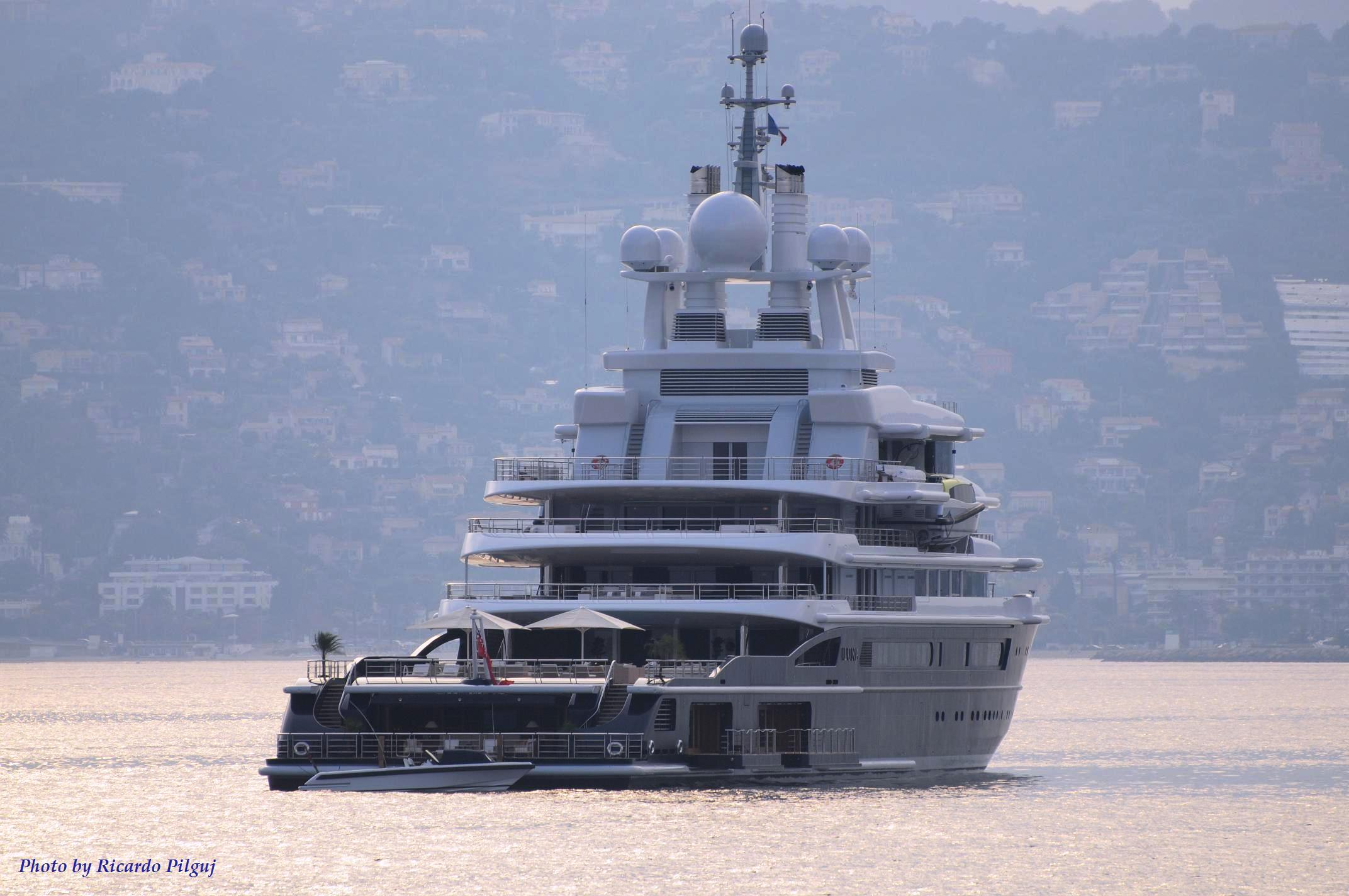 Yacht Luna soon after her delivery in the Mediterranean