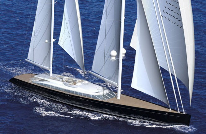 A Design Rendering of Superyacht VERTIGO - AY41